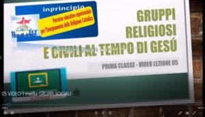 Classe prima. Lezione 05: I GRUPPI RELIGIOSI
